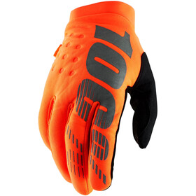100% Brisker Cold Weather Gloves Orange/Black